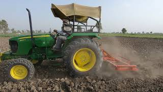 John Deere 5050 D tractor average 8 litter in1 hour with 11 tyne Cultivator