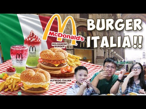 Mcdonald's Burger Italia  !! Ternyata Saos Spaghetti !!