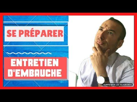 🎯LA PREPARATION DE L'ENTRETIEN D'EMBAUCHE