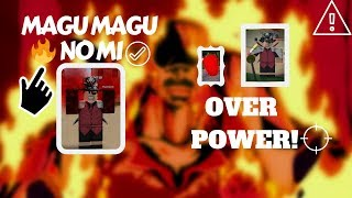[ROBLOX] Steve One Piece : How To Farm Luffy With Magu Magu No Mi / Magma Fruit