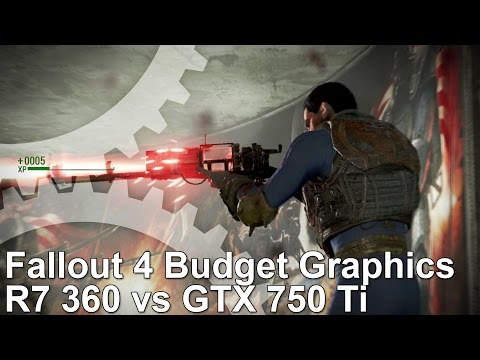 Fallout 4 PC Budget Graphics: GTX 750 Ti vs R7 360 Frame-Rate Test