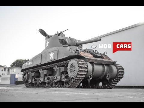 Sherman M4A1 - Running, Driving and Walk Through