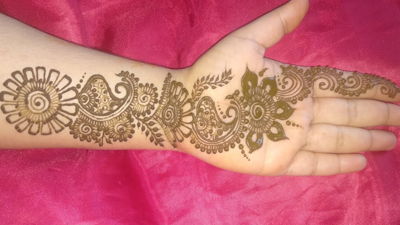 Easy Simple Indian Style Mehndi Design For Front Hand