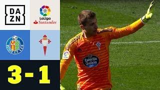 Torwart-Fehler der Saison? Hier kommt Ruben Blanco: Getafe - Celta 3:1 | La Liga | DAZN Highlights