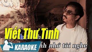 Viết Thư Tình Karaoke Quang Lập (Tone Nam) | Nhạc Vàng Bolero Karaoke