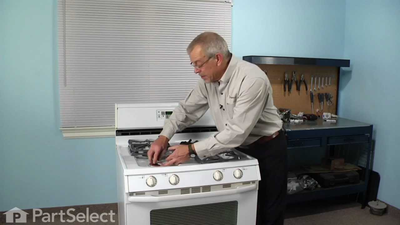 Range Stove Oven Repair Replacing The Top Burner Igniter Defy Wiring Diagram Whirlpool Part 74004053 Youtube