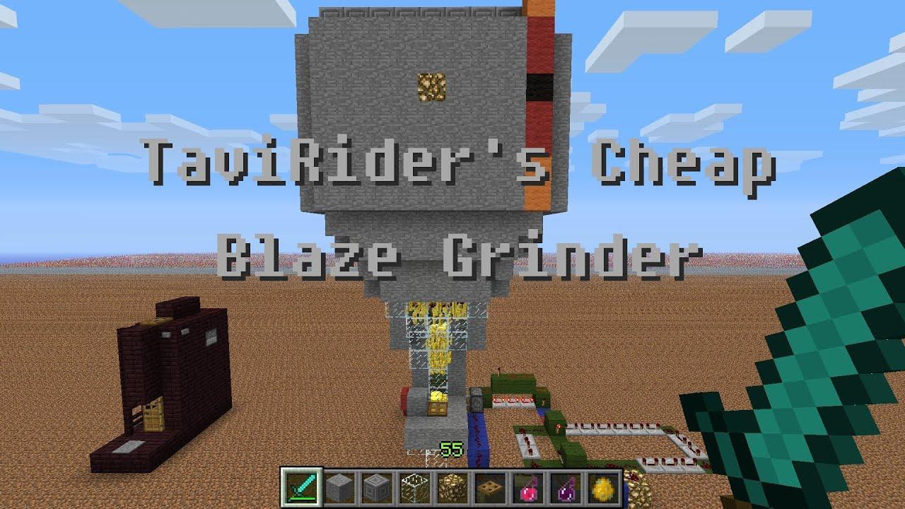 minecraft blaze farm schematic