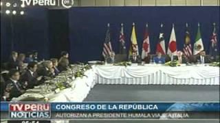 Publican autorización para que presidente Humala se reúna con ministro italiano y director de la FAO
