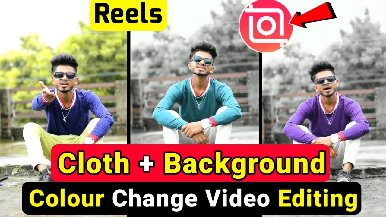 Cloth + Background colour change video | Colour grading video Tutorial | Reels Video Editing