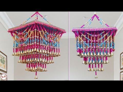 DIY Pearl Chandelier Idea || Handmade Wall Hanging Craft || handmade things