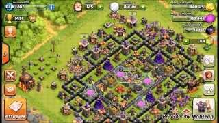 Clash of clans piller beaucoup de ressources et bien débuter hdv 10
