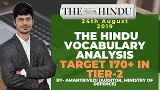Daily Vocabulary Analysis The Hindu 24th Aug 2019 | SSC CGL/IBPS CLERK/IBPS PO/SBI CLERK/PO