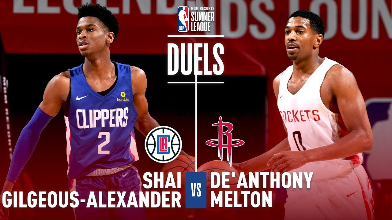 pretty nice 94a90 8e48b Shai Gilgeous-Alexander & De'Anthony Melton Duel It Out In 2018 MGM Summer  League Action!