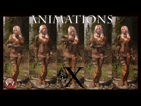 Mod List X   Animations Test   Skyrim SE Ultra Modded 2017