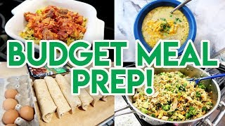 STAY HOME AND MEAL PREP ON A BUDGET! 💵 FRUGAL MEAL PREP 🍽 COOK ONCE EAT ALL WEEK