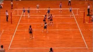 第59回黒鷲旗予選女子準々決勝「東レ×パイオニア」第3セット.mpg