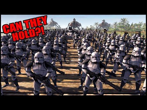 Clone Army's SUPER BRIDGE Defense! - Men Of War: Star Wars Mod Battle Simulator