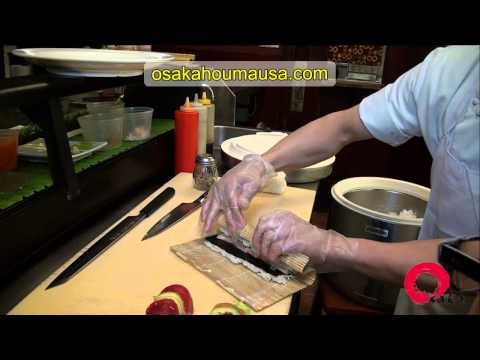 Professional Sushi Chef at Osaka Houma Teaches Cooking With Kade How to Make Sushi Rolls