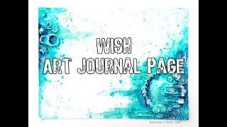 Wish Art Journal Page