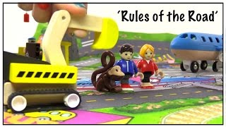 BRIO Toys ROAD RULES SONG for Children! Learn to Cross the Road & Traffic Safety for Kids