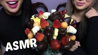 ASMR Chocolate Covered Strawberry, Banana, Pineapple - Edible Arragements (EATING SOUNDS) | SAS-ASMR