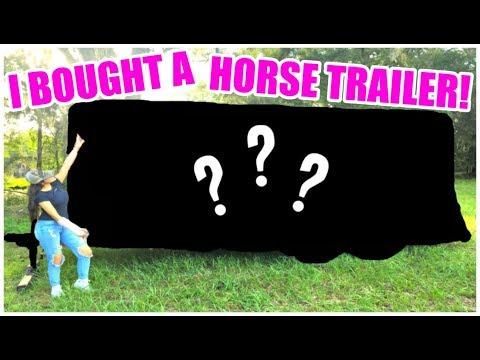 I Bought A Horse Trailer! + HORSE TRAILER TOUR!