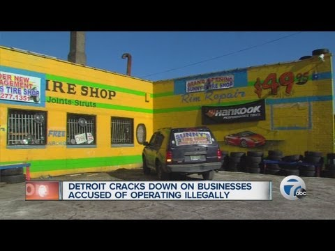 Detroit cracks down on businesses accused of operating illegally