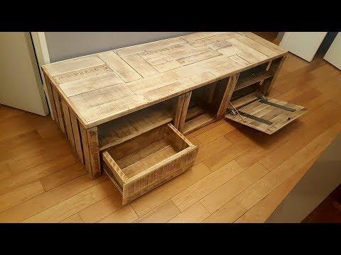 meuble tv bois de recup by adopteunecaisse maker