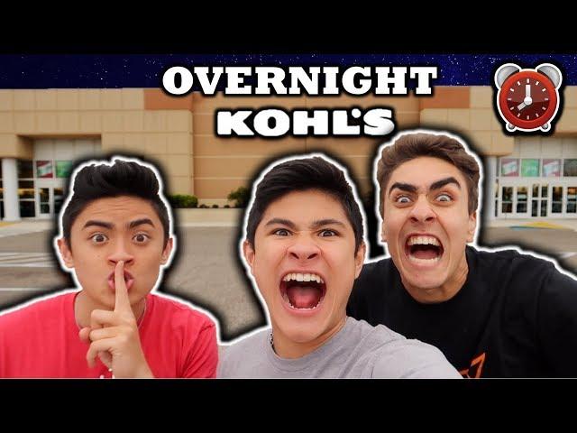 24 HOUR OVERNIGHT CHALLENGE IN KOHL'S!!