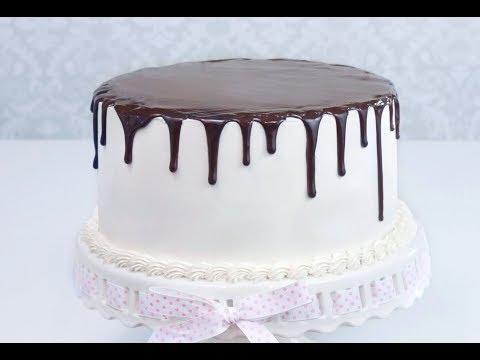 Как поливать торт шоколадом