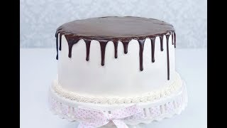 Шоколадные подтеки на торте. Как сделать шоколадную глазурь для торта