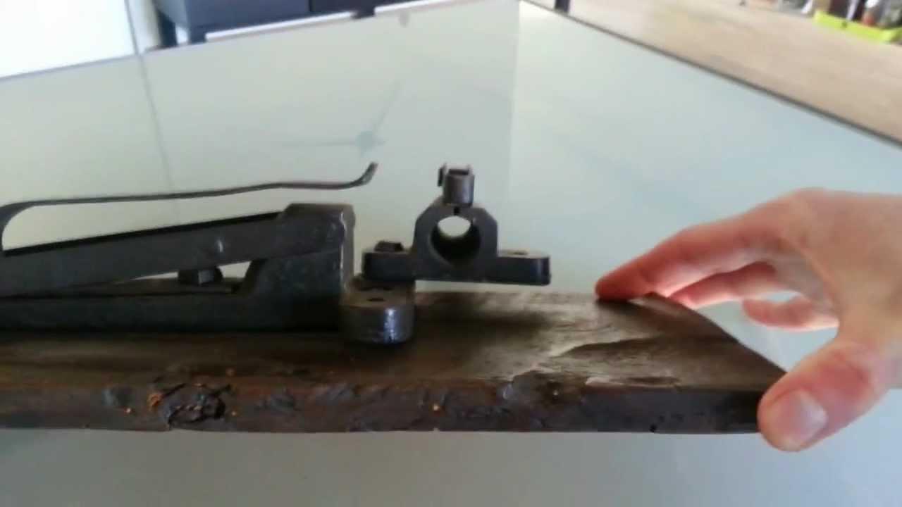 Antique blackpowder pinfire trap cannon / burglar alarm - YouTube