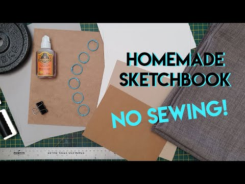 DIY Watercolor Sketchbook With Arches Paper (100% Cotton) ... IT'S SO AFFORDABLE! ✶ Bloopers Aplenty