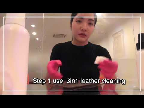 How to clean leather Bag with lovoir product -ทำความสะอาดกระเป๋าหนัง ด้วยน้ำยาทางร้าน