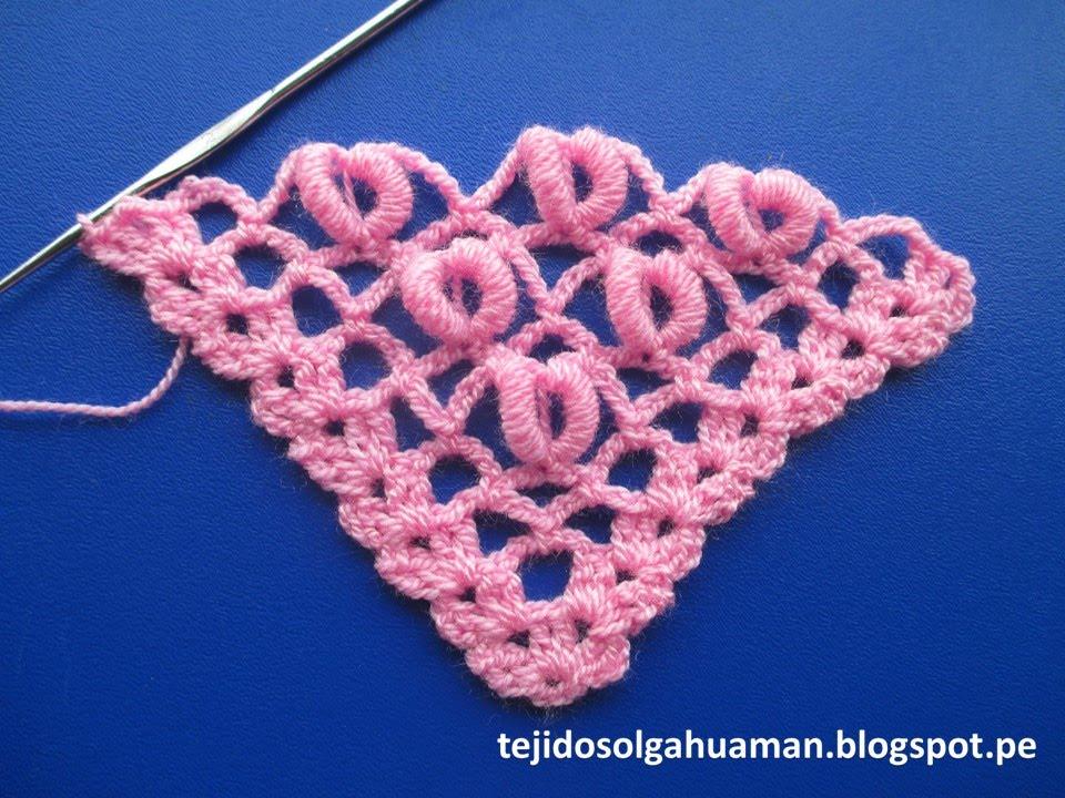 Punto para tejer chal a crochet con punto rococo paso a - Puntos para tejer ...