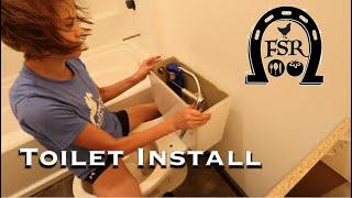 Installing the TOILET in the BARNDOMINIUM
