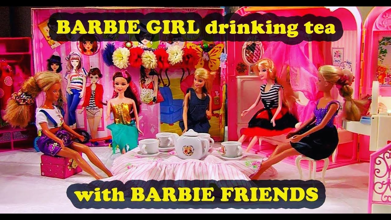 barbie girl and her barbie friends fun world for children girl play
