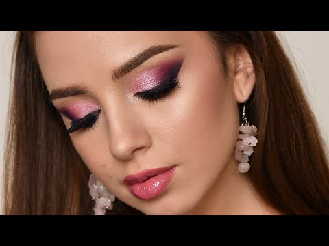 FULL FACE OF FIRST IMPRESSIONS | Purple Smokey Eye Makeup Tutorial thumbnail