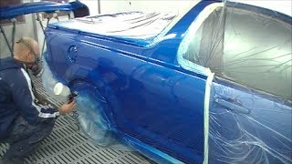 Electric Blue Holden Commodore VE SS Ute Spray Painting