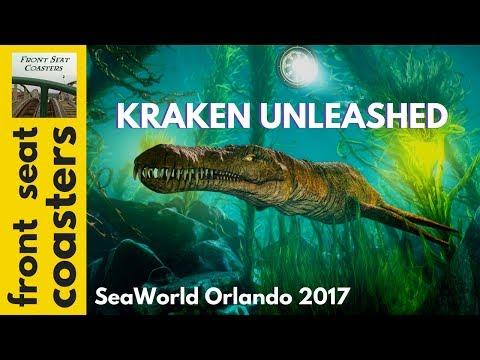 Kraken Unleashed New Virtual Reality Roller Coaster Experience at SeaWorld Orlando Full VR Film