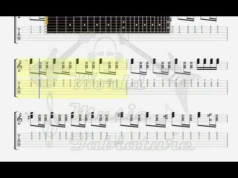 Delarium I will Survive Rock Version GUITAR 1 TAB - YouTube