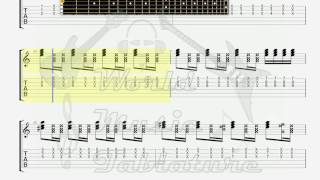 Delarium   I will Survive Rock Version GUITAR 1 TAB