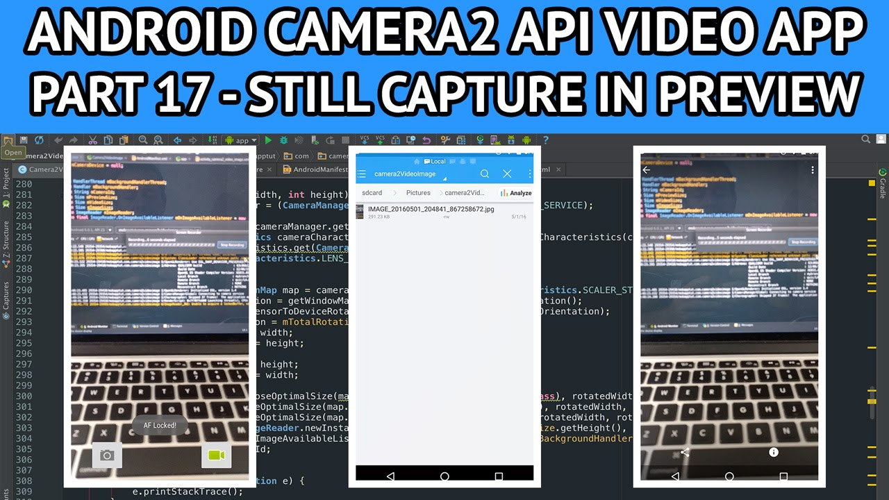 Android camera2 API video app - Part 17 capturing still image in preview  mode