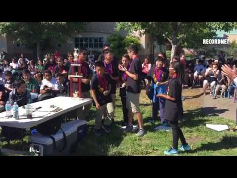 VIDEO: Rio Calaveras Elementary School celebrates two teams winning  US National Pentathlon competit