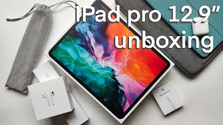 "iPad PRO 12.9"" 2020 Unboxing + Apple Pencil 2 & Accessories + Procreate first impression 👽"