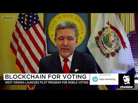 WV Secretary of State Warner Talks About Mobile Military Voting on Cheddar
