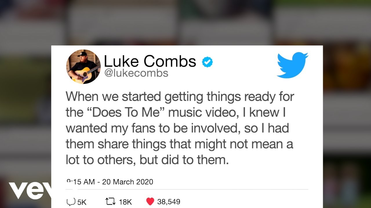 Luke Combs - Does To Me (Official Video) ft. Eric Church