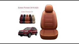 Oasis Auto Subaru Forester (2019-2023) seat cover installation-Custom Fit