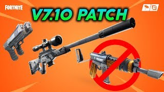 New Suppressed Sniper, Updated Map, X-4 Stormwing Nerf | Fortnite v7.10 Content Update 3 Patch
