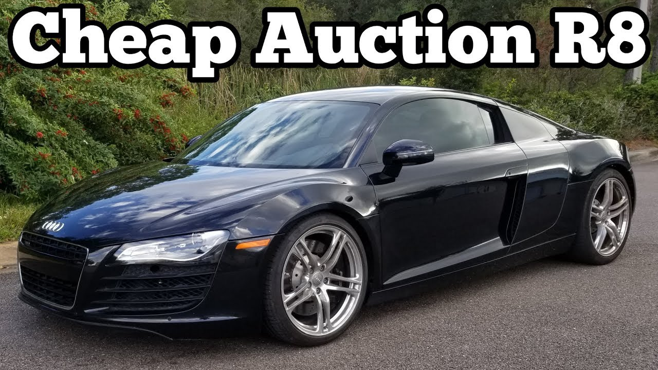here 39 s how much my salvage audi r8 cost how much i will invest to rebuild it youtube. Black Bedroom Furniture Sets. Home Design Ideas